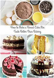 boxed cake mix taste better than bakery