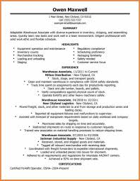 Warehouse Supervisor Resume Resume For Warehouse Job Warehouse Supervisor Resume Sample