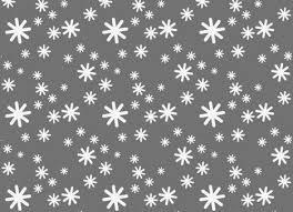 Snow Templates White Snow Greeting Card