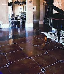 acid stained concrete floor.  Floor Geometric Squared Are Placed In This Concrete Floor And Acid Stained To  Accent The Overlapped Corners Intended Acid Stained Concrete Floor V