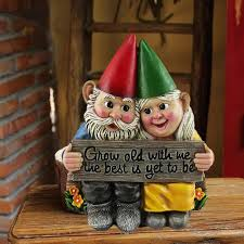 growing old together garden gnome