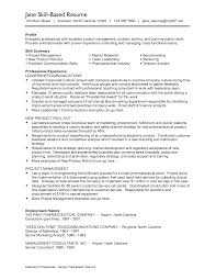 Skill Based Resume Examples Professional Skills Sample Resume