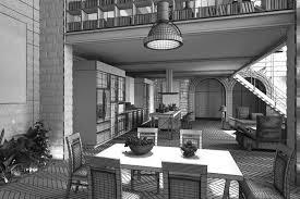 ... stone wall interior design 3d model obj 5 ...