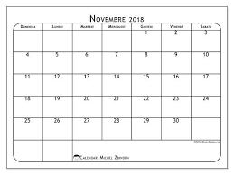 Calendario Novembre 2018 51ds Calendario 2018 Calendari