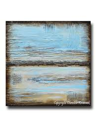 giclee print blue abstract painting blue brown modern urban canvas print coastal beach artwork on blue brown wall art with giclee print blue abstract painting blue brown modern urban canvas
