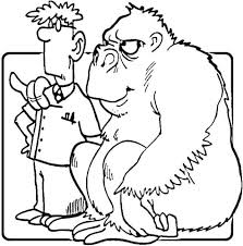 Small Picture Gorilla to Veterinarian Are you my friend coloring page Free