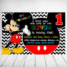 mickey mouse party invitation disney birthday invitation mickey mouse birthday party invitation