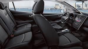 2018 nissan leaf interior. interesting 2018 2017 nissan leaf with partially recycled black cloth interior in 2018 nissan leaf interior e