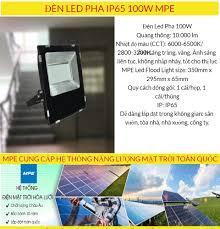 ĐÈN LED PHA IP65 100W MPE (FLD-100)