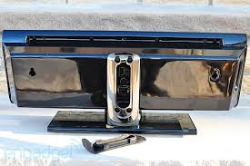 klipsch g17 air. moving to the back, along left and right are a duo of mounting brackets, in center is deeply set connections panel with reset button, klipsch g17 air