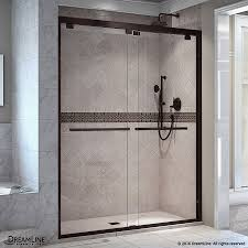 shower design simple slidinger doors bronze frameless at