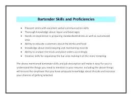 Bartender Resume Job Description Delectable Bartender Resume Format Bartender Resume Examples Unique Elegant