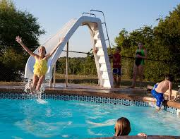backyard pool with slides. White Water Pool Slide. Backyard With Slides A