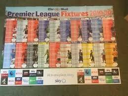Premier League Wall Chart Details About Mail On Sunday Premier League Football Calendar 2019 20 Wallchart Fixtures