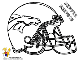 Denver Broncos Football Helmet Coloring Pages For Boys Bebo Pandco