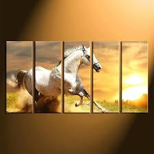 home decor 5 piece canvas art prints wildlife print horse wall uk multi panel nature