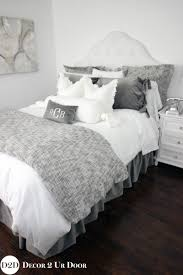 grey white neutral custom apartment bedding collection