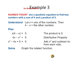 quadratic equation with no solution jennarocca