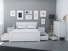white queen size bed frame. White Queen Size Bed Frame With Four Storage Modern Timber Bedroom Furniture Melbourne I