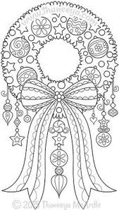 Color Christmas Wreath Coloring Page By Thaneeya Adult Coloring