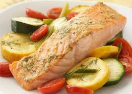 cooked salmon fillet. Unique Salmon Salmon Fillet With Vegetable Medley Intended Cooked Y