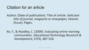 Cite Article Apa Style