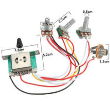 discount potentiometer wiring potentiometer wiring on 5 way switch 500k pots knobs wiring harness prewired for electric guitar gear switch 3 potentiometer 2 voice 1 volume