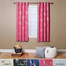 pink blackout curtains target plus brown wall and wooden floor for home interior design ideas