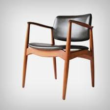 captain s chair by eric buck for Ørum møbler denmark dark brown leather and teak in a beautiful vine condition