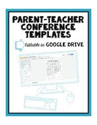 Parent Teacher Conference Form Template Google Drive Editable Parent Teacher Conference Forms