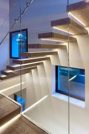 led stairwell lighting. view in gallery oak and glass staircase with led lighting strips led stairwell