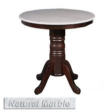 white marble table top. 30˝ round natural marble tea table - white top