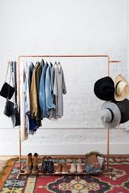 room clothes rack. Delighful Room How To Make A Chic Copper Garment Rack In Room Clothes