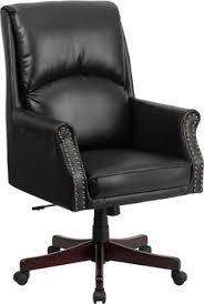 high back pillow back black leather executive swivel office chair this luxurious traditional chair features chesterfield presidents leather office chair amazoncouk