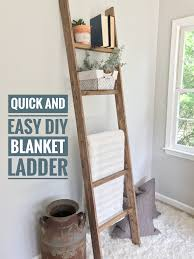 Diy Blanket Ladder Ugly Home Office Makeover Part 8a The Simple Diy Blanket