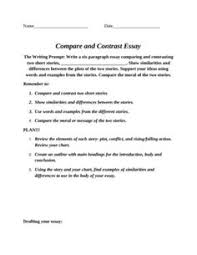 compare and contrast essay organizer strategies compare and contrast essay organizer strategies middle school writing language arts and school