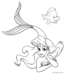 Mermaid Coloring Pages For Kids The Little Mermaid Coloring Page