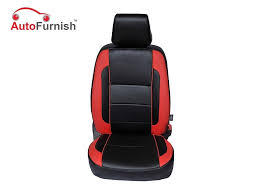 picture of leatherite car seat covers for maruti alto old liberty red cz110