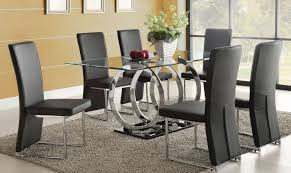 incredible dining room tables calgary. stunning black glass dining table and 6 chairs popular of intended for incredible property round remodel room tables calgary s