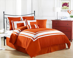 cool orange comforter sets