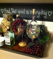 Fake Wine Bottles For Decoration Tray fake cheese and grapes with wine bottles Kitchen decor 2