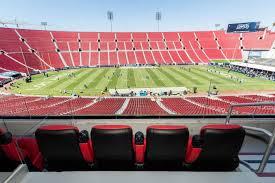 Usc Coliseum Seating Chart Los Angeles Memorial Coliseum Suite Rentals Suite