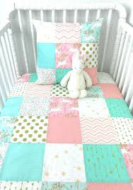 c and mint bedding baby girl blanket crib bedding baby blanket blush pink c mint gold