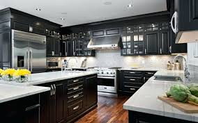 Remodeled Kitchen Cabinets Black Cabinets And Stainless Steel