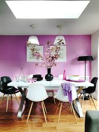 natural light gives the purple dining room a soothing appeal design  juliette byrne.