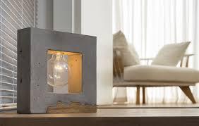 Holz Beton Lampe
