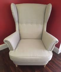 exquisite manificent ikea wingback chair ikea strandmon light grey wingback chair great condition can deliver