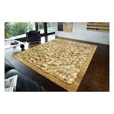 reduced fur rug k 1536 wolf natural frame beige