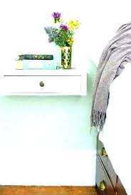 wall mounted bedside table 2 slice shelf cur portray lamps shelves dresser drawer non traditional mount tables bedsi