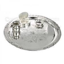 dhanteras diwali gift silver poojathali set in purity